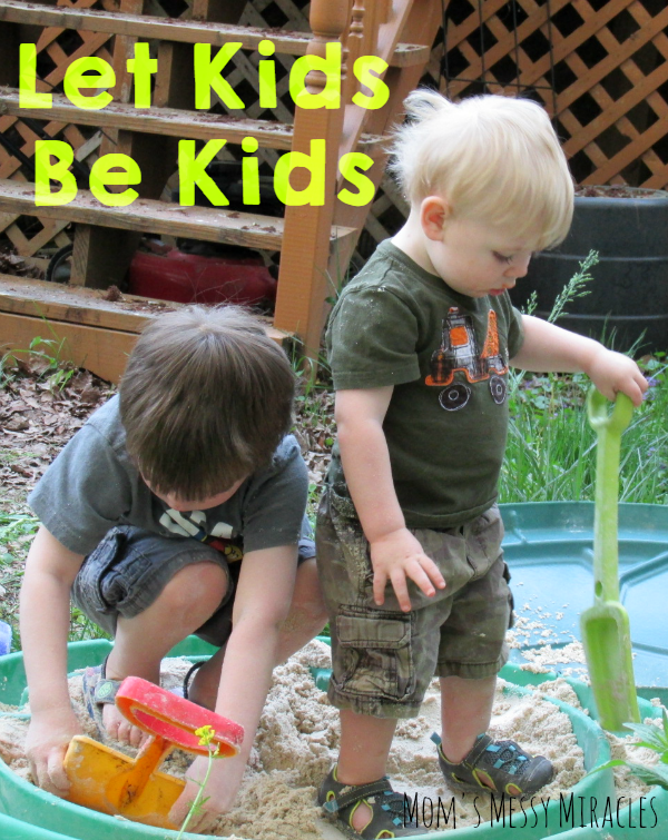 Let Kids Be Kids! They'll get dirty playing outside, but that's supposed to happen! Use all free clear- safe for sensitive skin- to get their clothes clean!