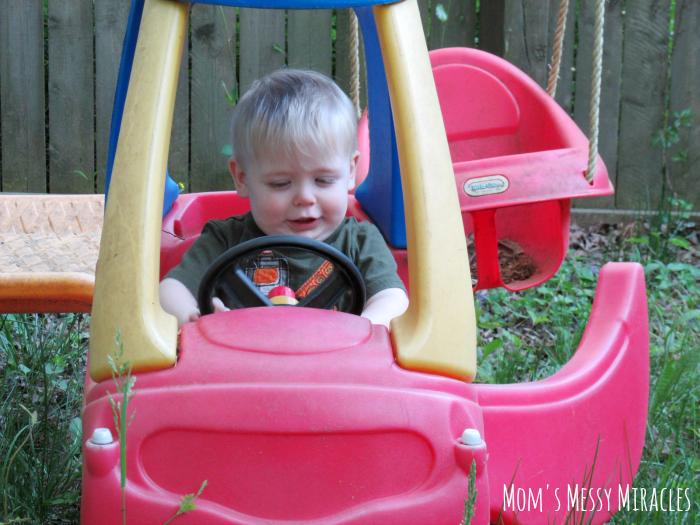 Owen playing outside #FreeToBe