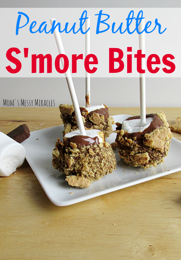Peanut Butter S'more Bites are perfect for inside or out when you don't have a campfire available!