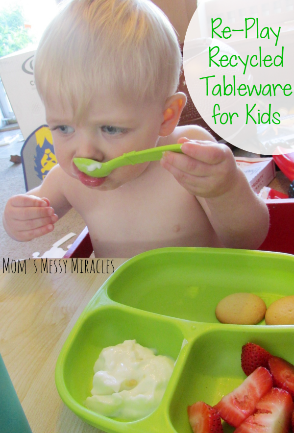Re-Play Recycled Tableware for Kids that's fun, bright, eco-friendly and affordable!