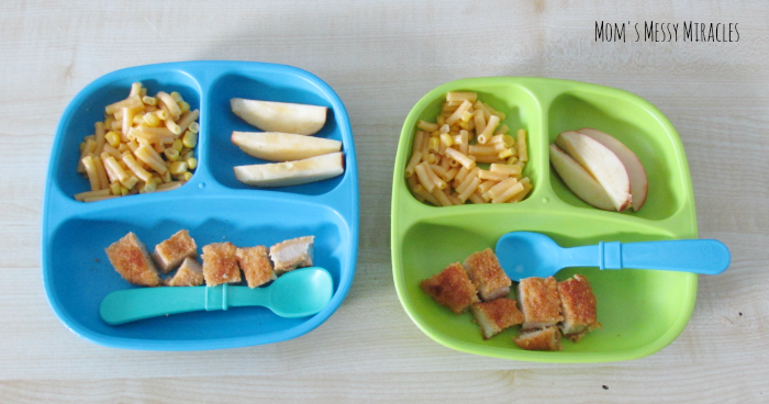 Re-Play Recycled chicken noodles apples