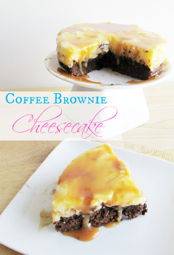This Coffee Brownie Cheesecake made with McCafé Coffee is a treat even those that don't like coffee will love!