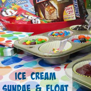 Ice Cream Sundae and Float Bar