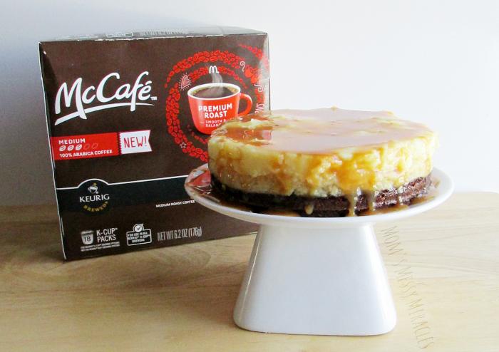 McCafe Coffee Brownie Cheesecake