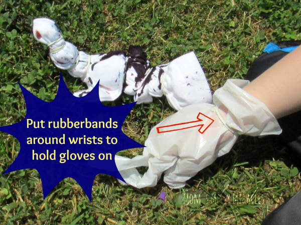 Rubberband Gloves Tie-Dye Party