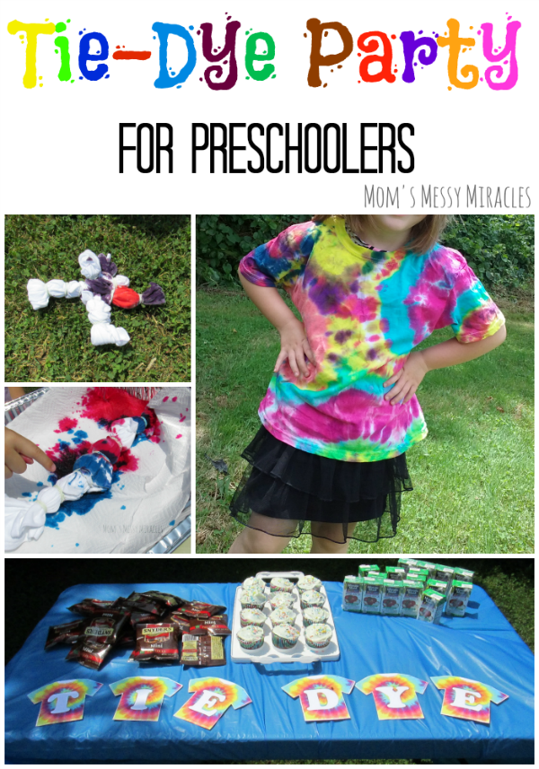 A Tie-Dye Party for Preschoolers is a must this summer!
