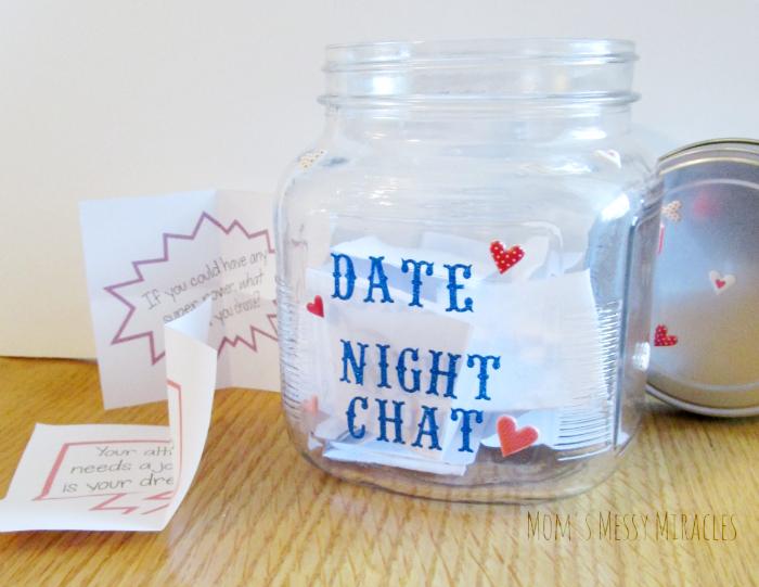 Date Night Conversation Starters Jar