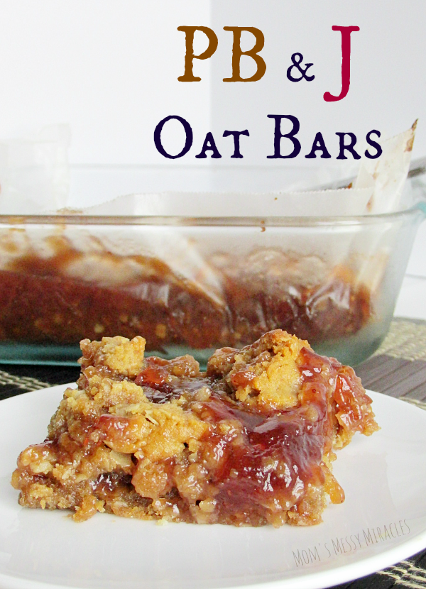Peanut Butter and Jelly Oat Bars are a perfect afternoon treat with all of our favorite flavors! Simple to make and yummy to eat!