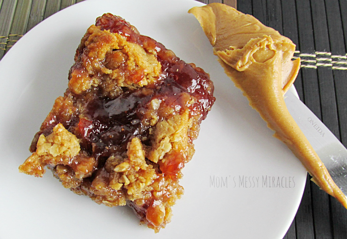 Peanut Butter Jelly Oat Bars
