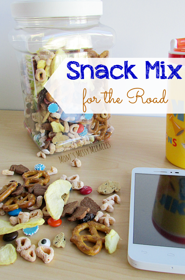 Snack Mix for the Road - Save money this summer with Walmart Family Mobile so you can afford more trips with more snacks! Includes snacking tips for the road and a snack mix recipe!