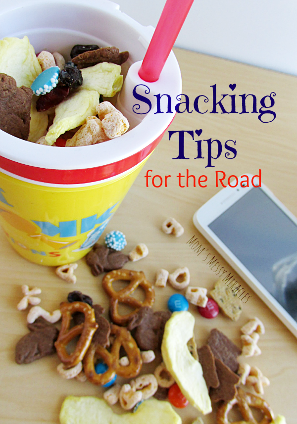 Snacking Tips for the Road - Save money this summer with Walmart Family Mobile so you can afford more trips with more snacks! Includes snacking tips for the road and a snack mix recipe!
