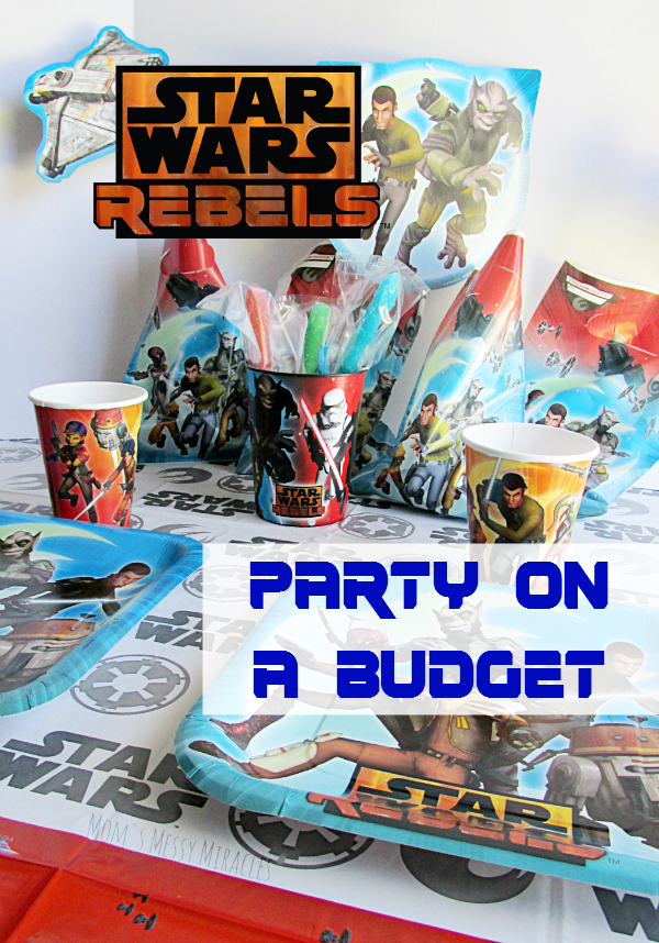 Throw a Star Wars Rebels party on a budget with American Greeting party supplies! Check out our DIY Rock Candy Lightsabers for a party favor!
