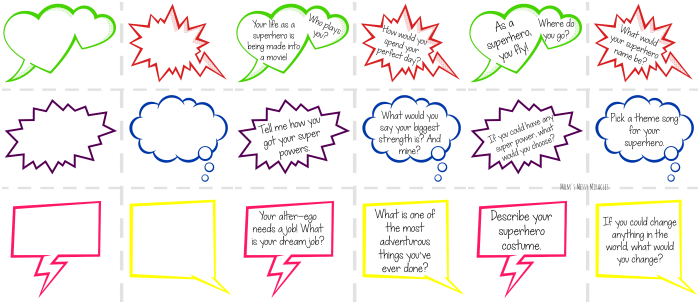 Superhero Conversation Starters