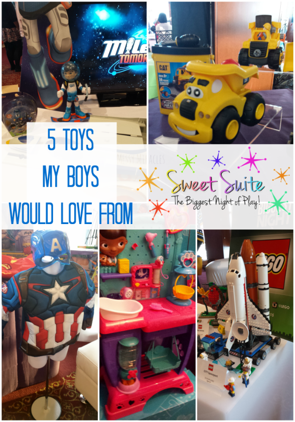 5 Toys My Boys would love to have from Sweet Suite 2015!