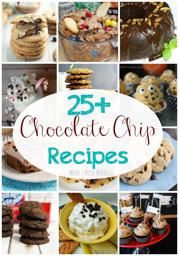 Over 25 of the best Chocolate Chip Recipes! Perfect for National Chocolate Chip Day or any day!