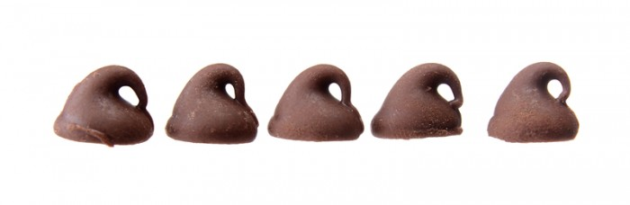 Chocolate Chips in a row