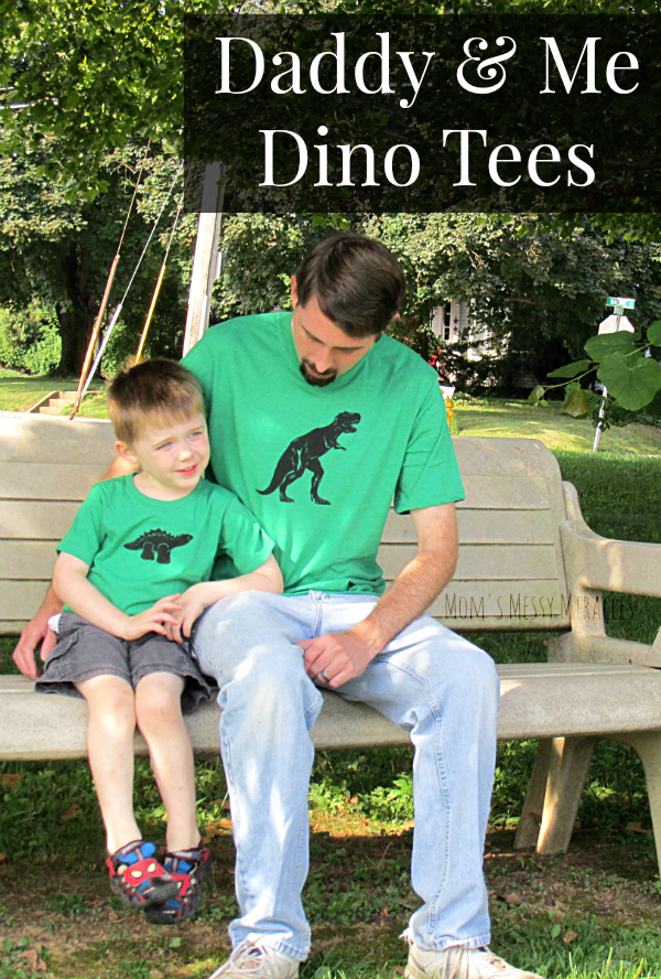 Daddy & Me Dino Tees from Daddy & Co. are super cute, soft and great for some special bonding!