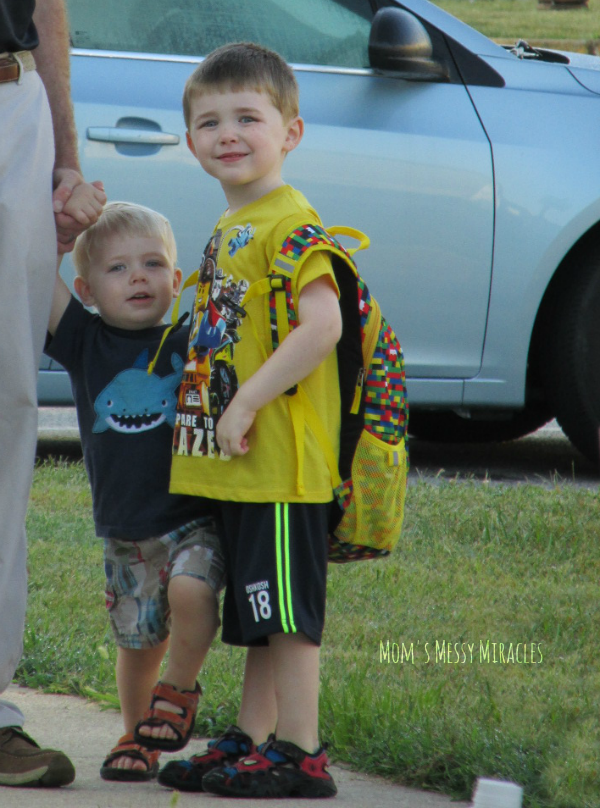 Brothers on First Day of School