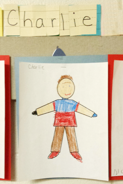 Charlie's Drawing at School