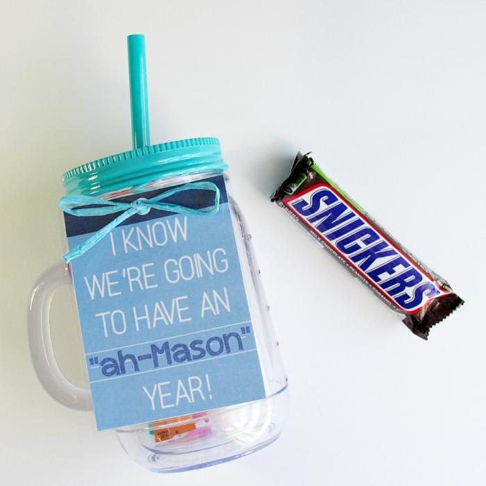 Easy Teacher Gift SNICKERS