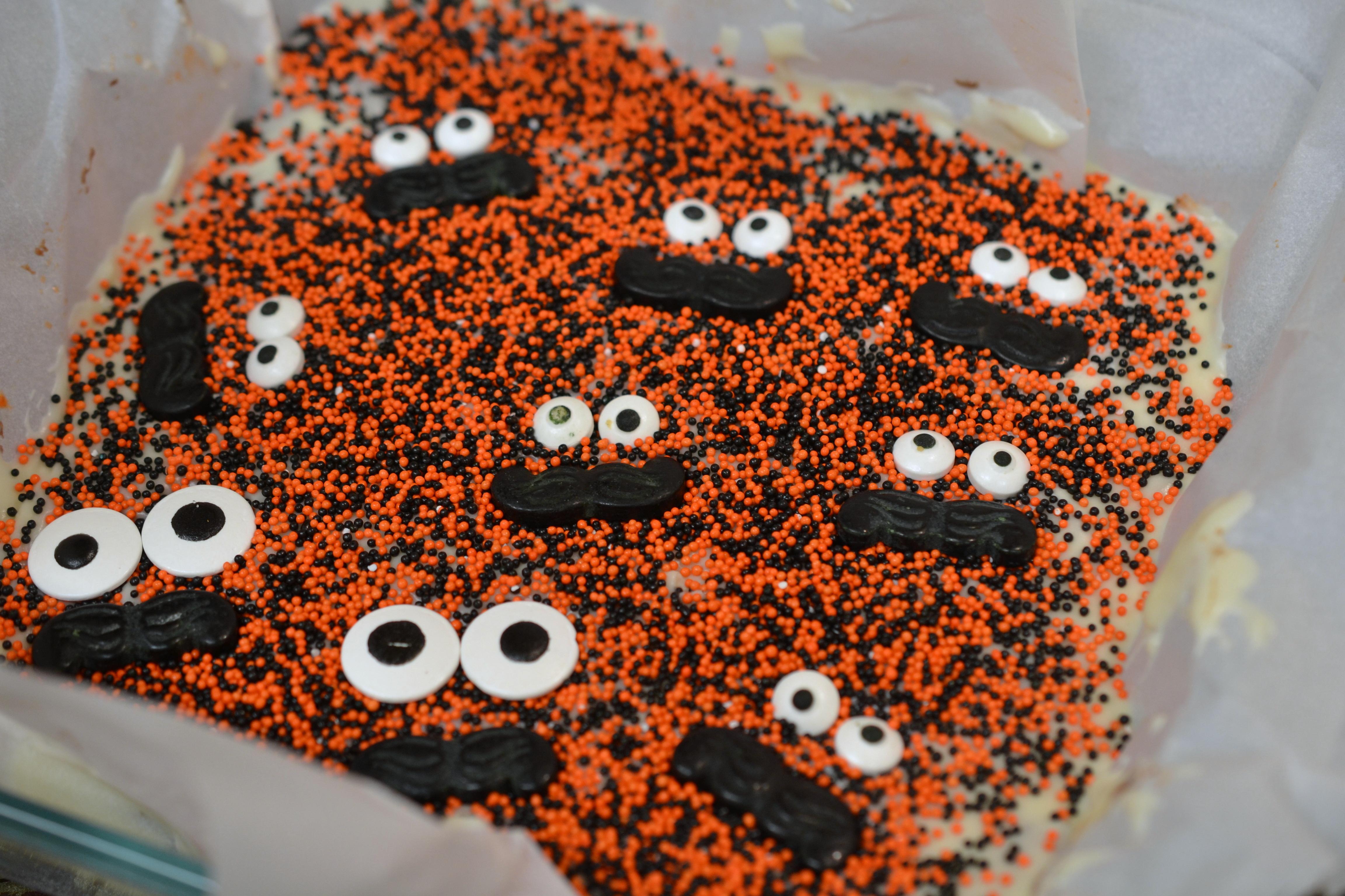 Halloween Oreo Fudge decorated