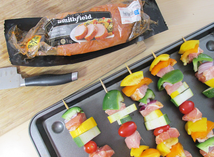 Kabobs with Smithfield Pork