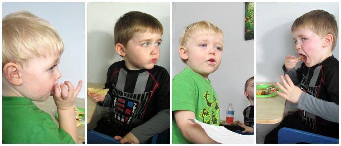 Kids Eating Nachos