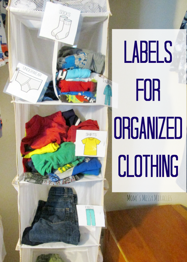 Help your little one put away and pick out their clothes with Labels for Organized Clothing! Free printables!