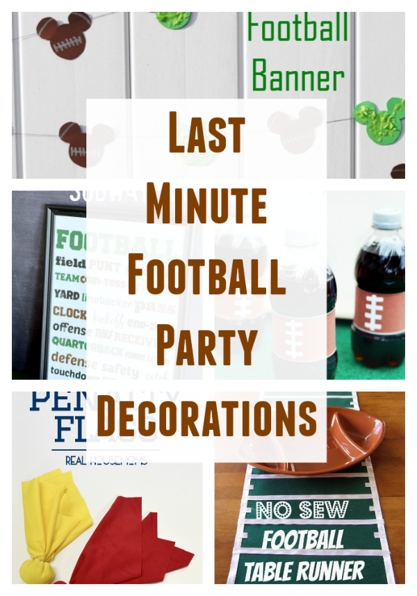Last Minute Football Party Decorations