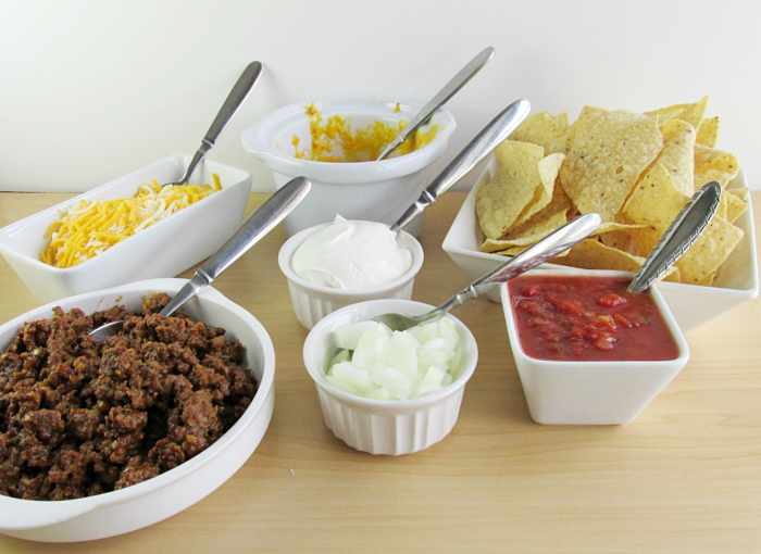 Nacho Bar set up
