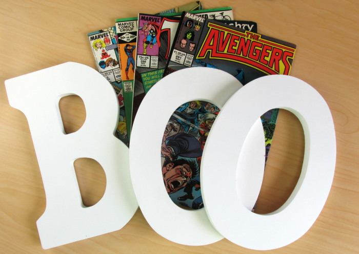 BOO Comic Book Letters Supplies