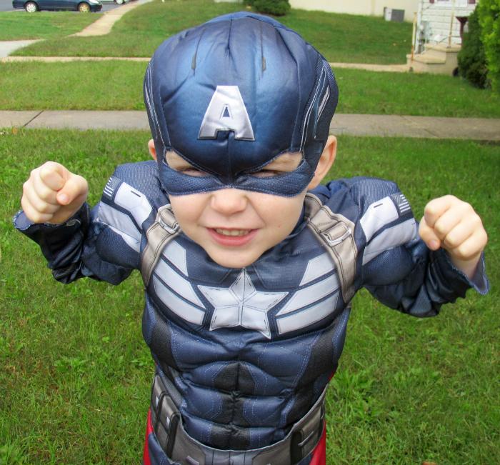 Charlie as Captain America