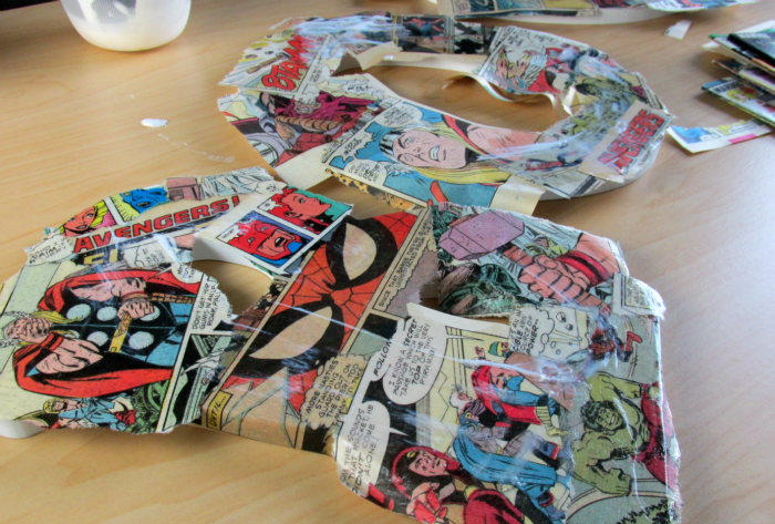Comic Book Pages on Letters