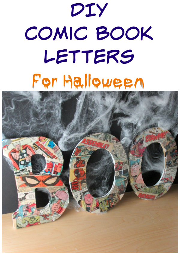 DIY Comic Book Letters for Halloween