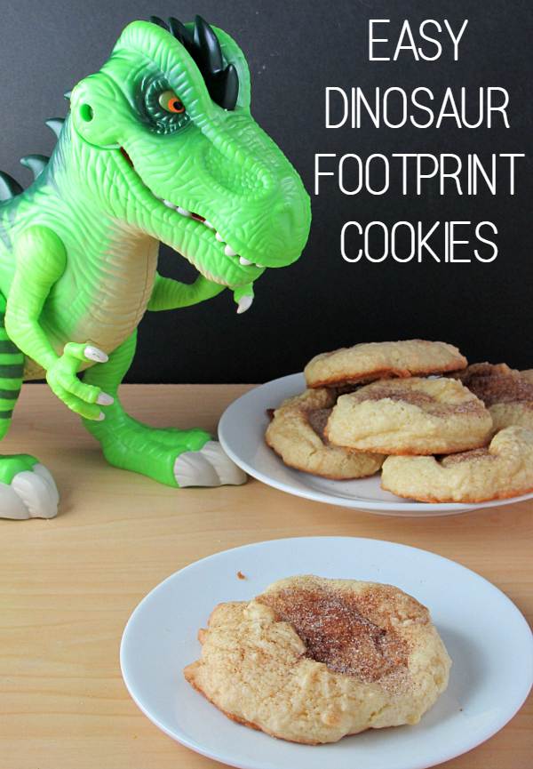 Dinosaur Footprint Cookies are fun and easy to make for your dinosaur fans!
