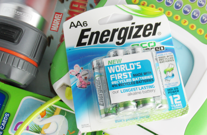 Energizer batteries in power outage kit