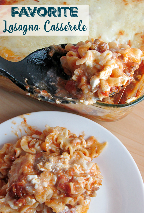 Lasagna Casserole is a perfect comfort food. No fussy lasagna noodles in this, making it even easier!