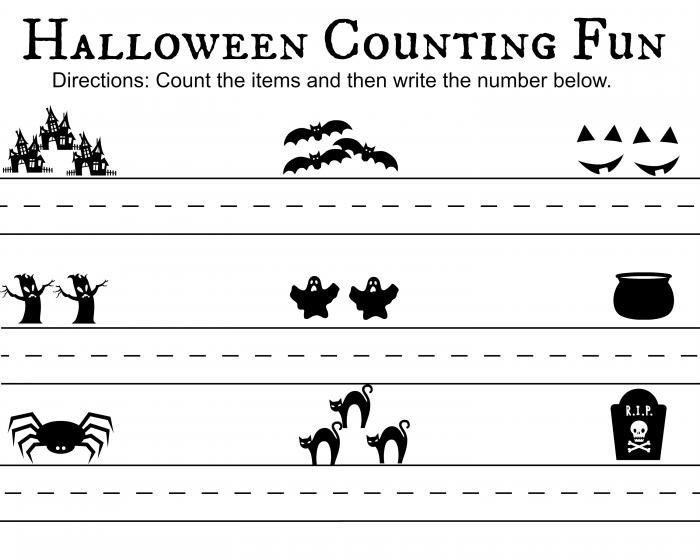Halloween Counting Fun Printable