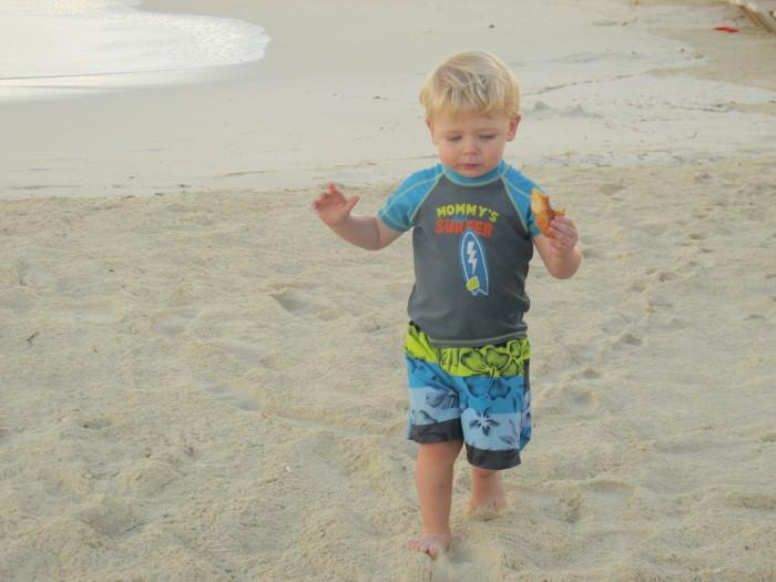 Owen on beach at Beaches Turks & Caicos