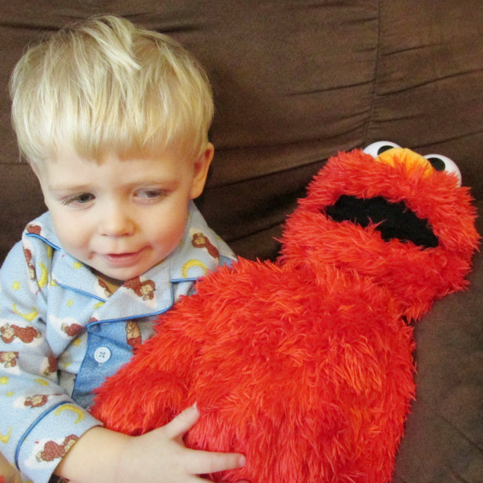 Owen and Play All Day Elmo