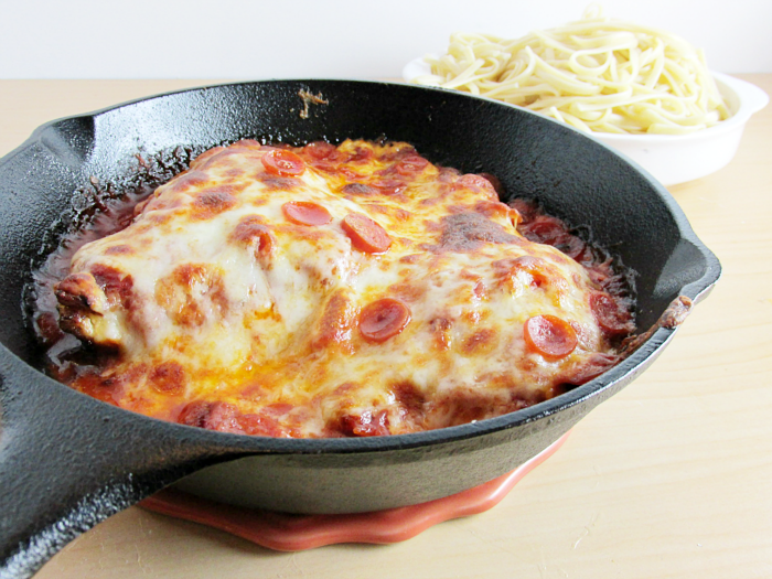 Pizza Chicken in Skillet