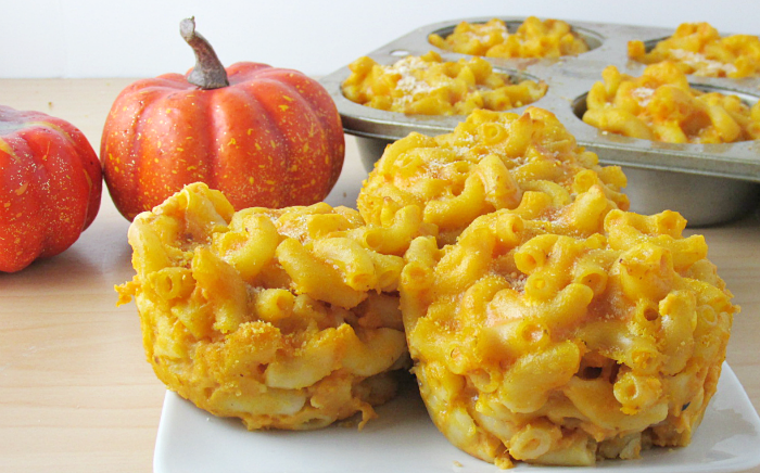 Pumpkin Mac and Cheese Cups