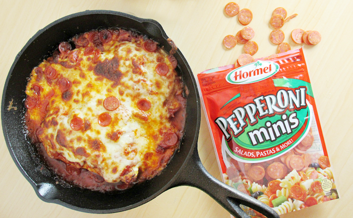 Skillet Pizza Chicken Hormel Pepperoni Minis
