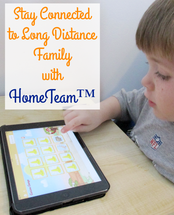 Kids Can Stay Connected with HomeTeam by video chatting, playing games, and reading books with long distance family and friends.