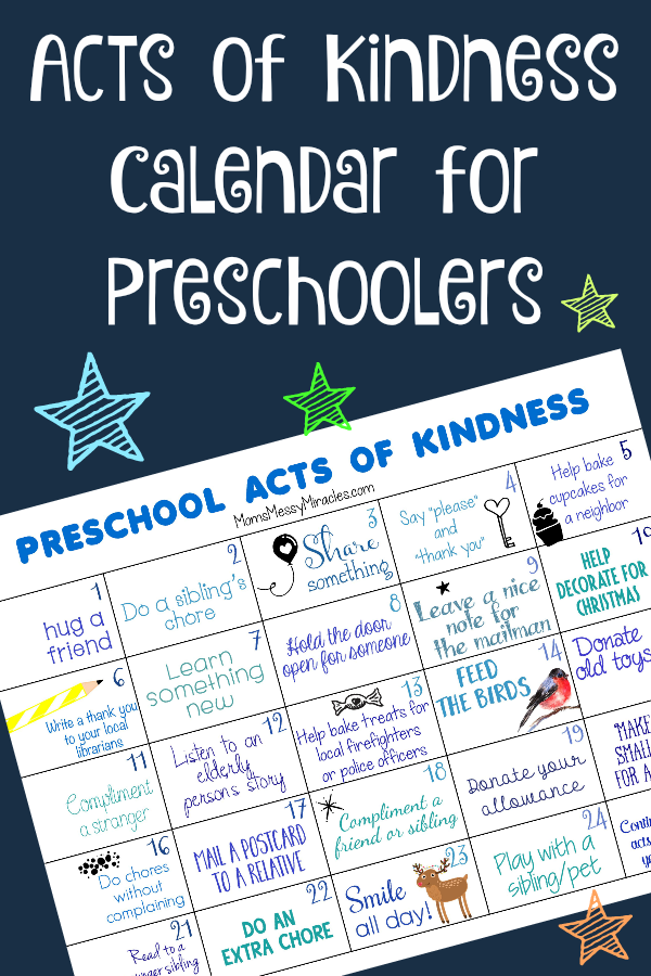 World Kindness Day is November 13! We're sharing a free printable calendar with 25 Acts of Kindness for Preschoolers! Thanks Clangers for teaching us about kindness.