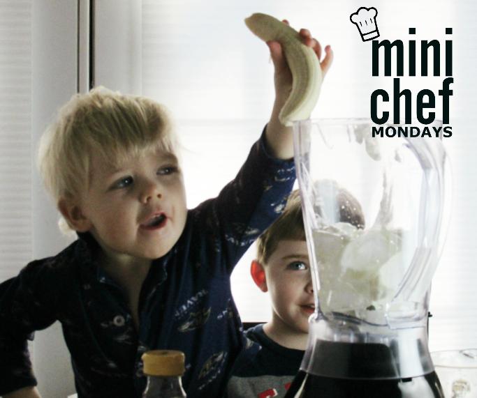 Adding Banana to Banana Smoothies - Mini Chef Mondays