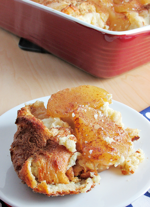 An easy breakfast or dinner you can make ahead of time is Apple French Toast Casserole! This is a great dish to get the kids involved!