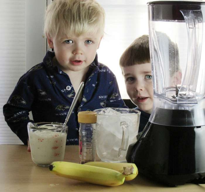 Banana Smoothies with Charlie and Owen