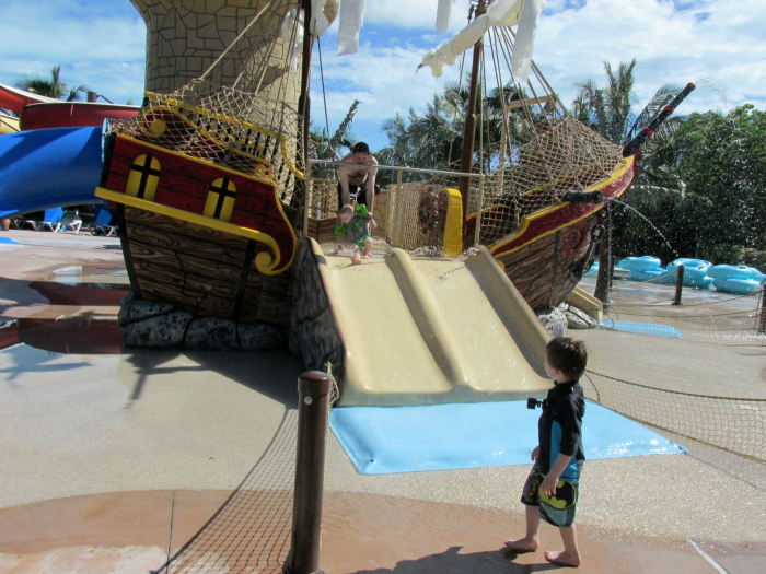 Boys at the Pirate Waterpark