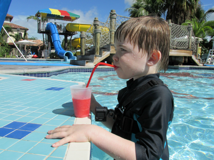 Charlie at Beaches swim up bar
